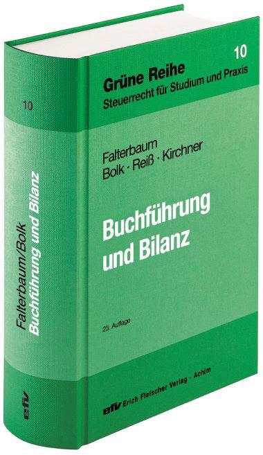 Grüne Reihe Band 10 Buchführung und Bilanz